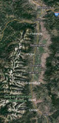 bitterroot valley terrain